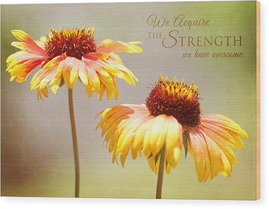 Floral Sunshine With Message Wood Print