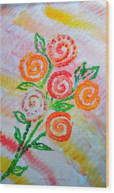Floralen Traum Wood Print