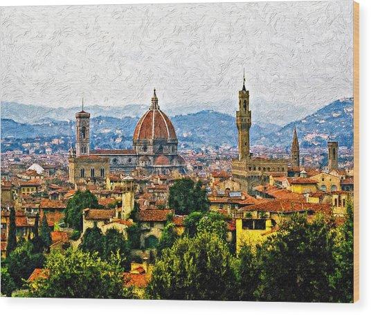 Florence Impasto Wood Print