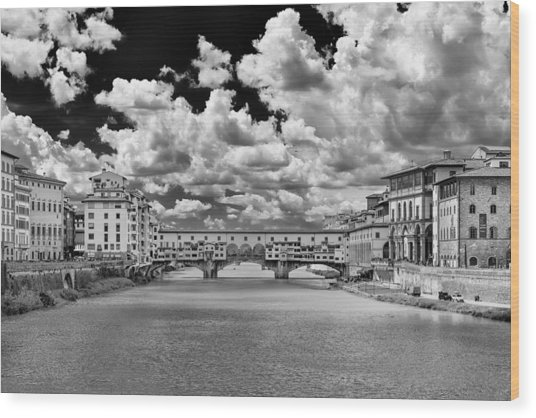 Florence Old Bridge Wood Print