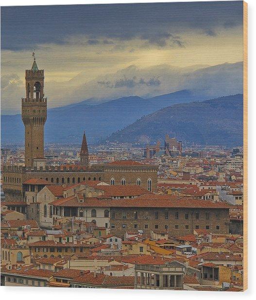 Florence Overlook Wood Print