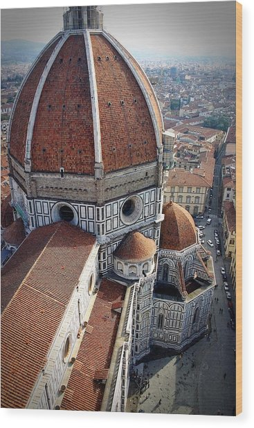 Florence Tile Roof Church Wood Print