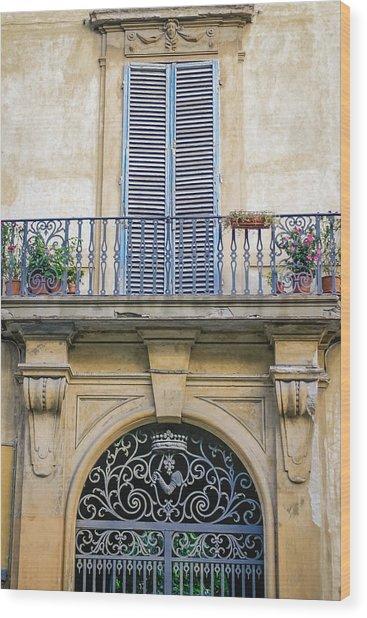 Florentine Apartment Wood Print