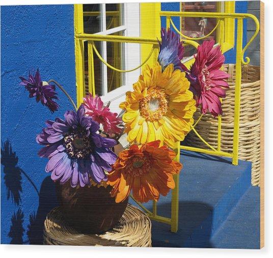 Flores Colores Wood Print