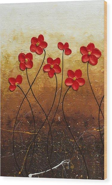 Flores De Mi Jardin 1 Wood Print