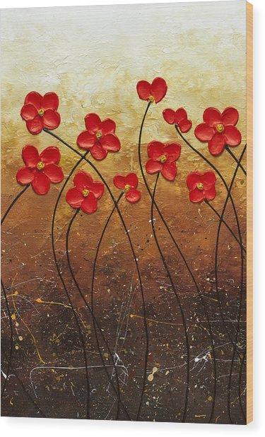 Flores De Mi Jardin 2 Wood Print