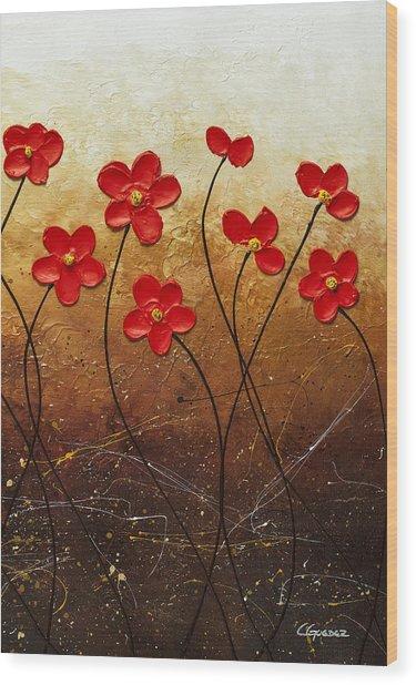 Flores De Mi Jardin 3 Wood Print