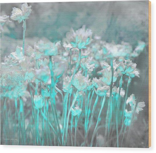 Flores De Roca Wood Print