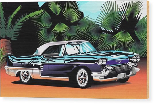 Florida Car Wood Print