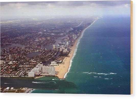 Florida Coast Line-2 Wood Print