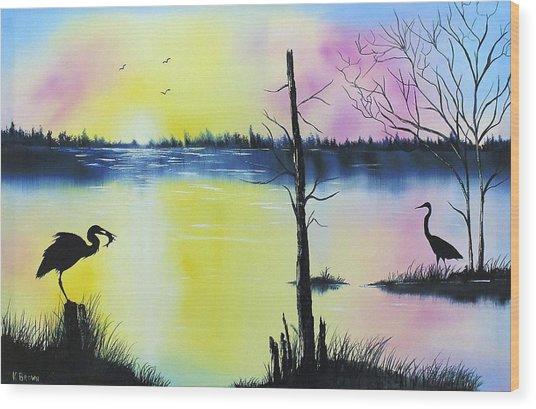 Florida Silohuette Wood Print