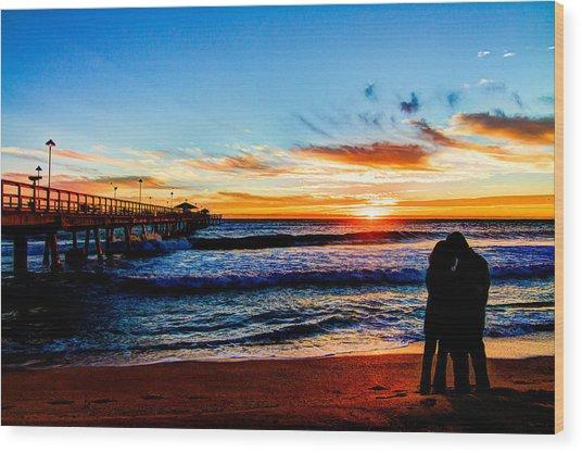 Florida Sunrise Brings A New Year Wood Print