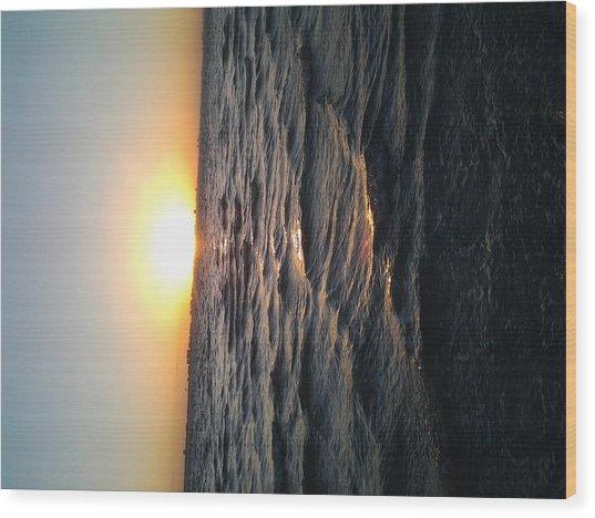 Florida Sunrise Wood Print by Chasity Johnson