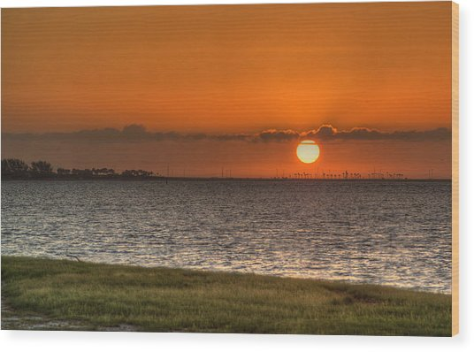 Florida Sunrise Wood Print