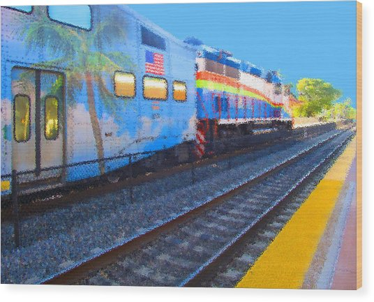 Florida Train Wood Print