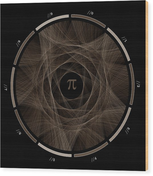 Flow Of Life Flow Of Pi #2 Wood Print by Cristian Vasile