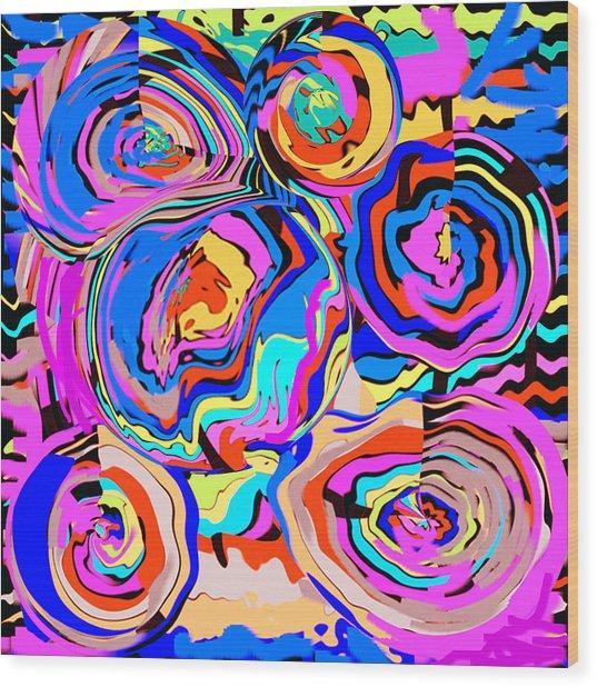 Abstract Art Painting #2 Wood Print