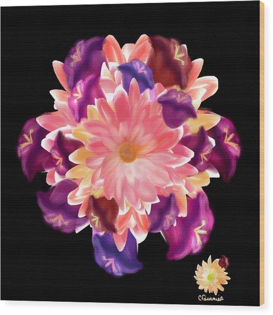 Flower Circle Wood Print