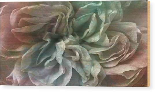 Wood Print featuring the digital art Flower Dance - Abstract Art by Jaison Cianelli