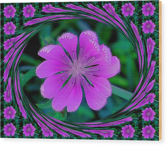 Flower Dream Wood Print