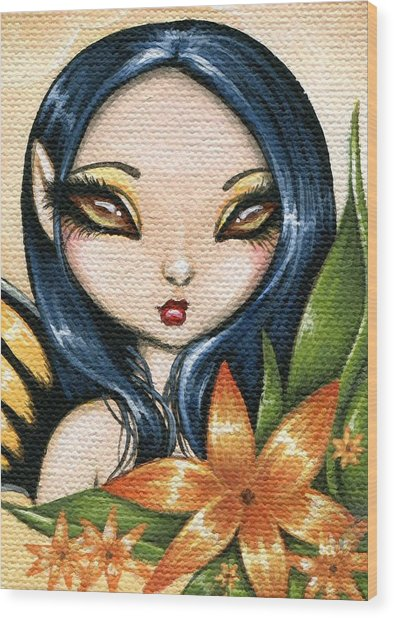 Flower Fairy Kasumi Wood Print by Elaina  Wagner