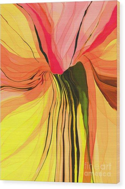 Flower Fantasy Wood Print by Hilda Lechuga
