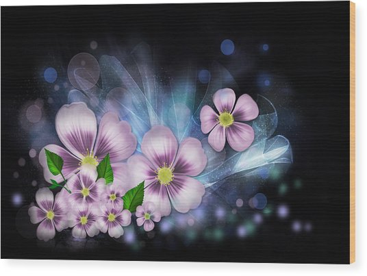 Flower Fantasy Wood Print