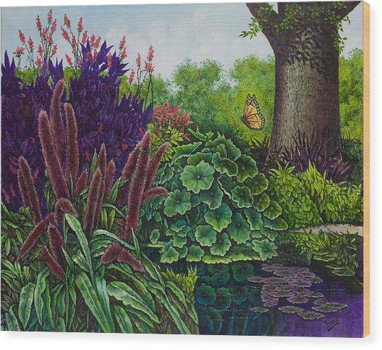 Flower Garden V Wood Print