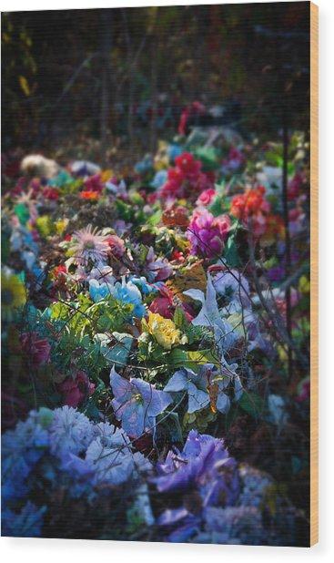 Flower Graveyard Wood Print