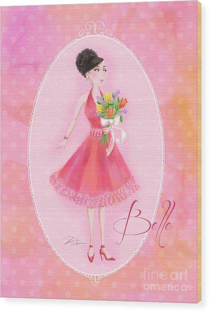 Flower Ladies-belle Wood Print