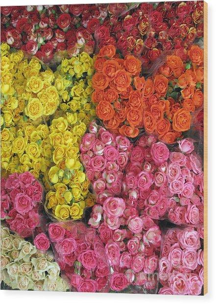 Flower Market I Wood Print