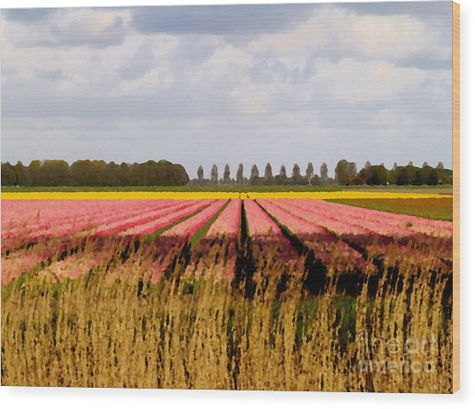 Wood Print featuring the photograph Flower My Bed by Luc Van de Steeg