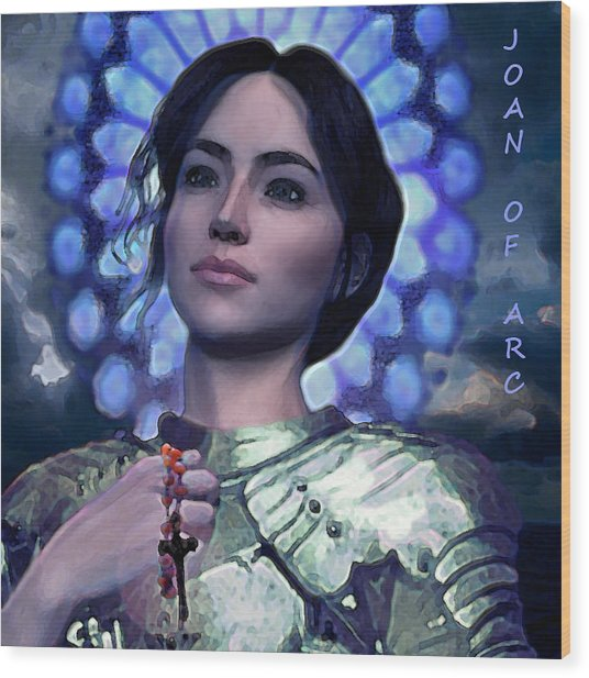 Joan Of Arc Flower Of France Wood Print