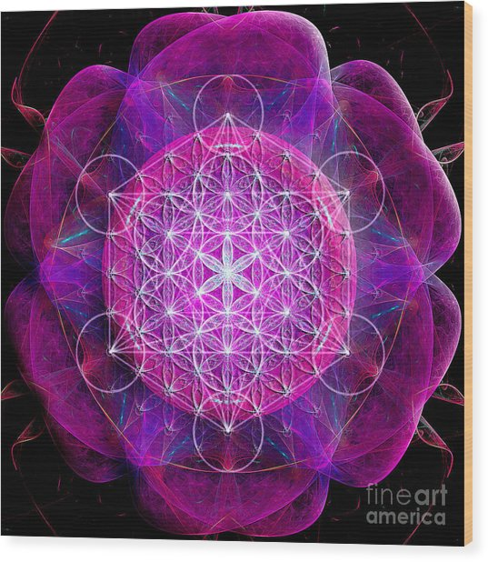 Flower Of Life No Two Wood Print