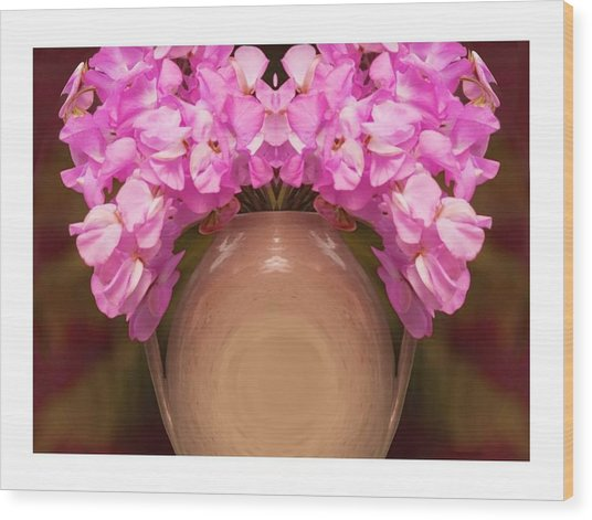 Flower Pot Iv Wood Print by Ck Gandhi