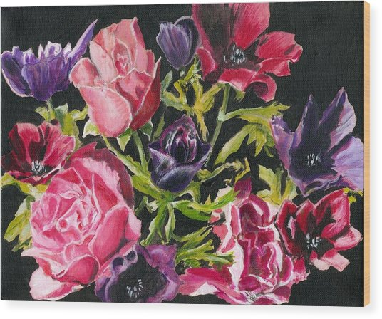 Flower Power Wood Print by John Simlett