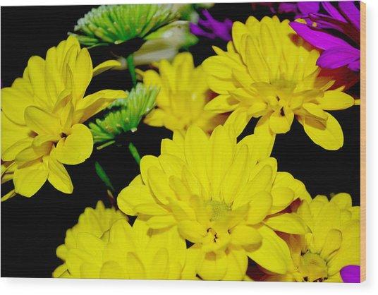 Flower Power Wood Print by Victoria Clark