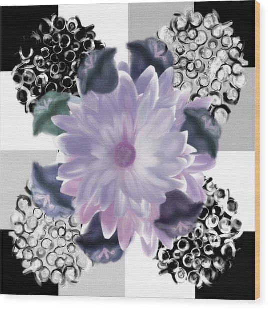 Flower Spreeze Wood Print