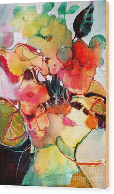 Flower Vase No. 2 Wood Print