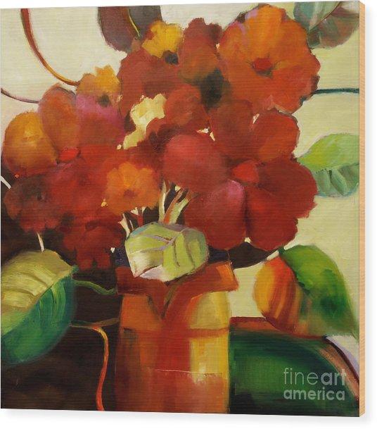 Flower Vase No. 3 Wood Print