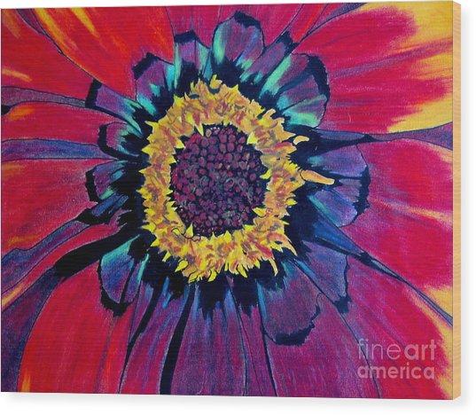 Flowerburst Wood Print