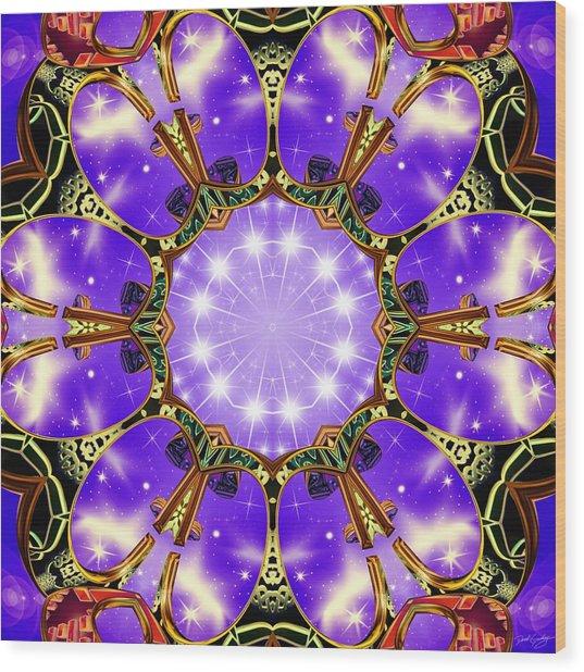Wood Print featuring the digital art Flowergate by Derek Gedney