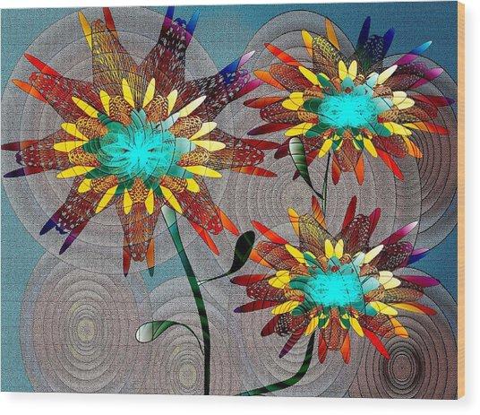 Flowering Blooms Wood Print