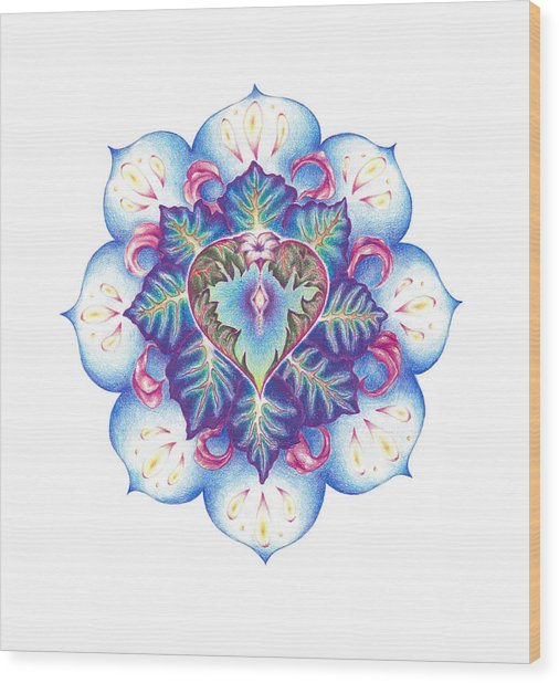 Flowering Of The Heart   Oneness Art Wood Print