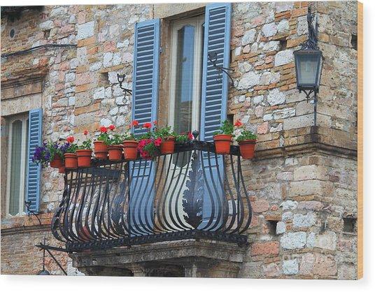 Flowers 3- Assisi Wood Print