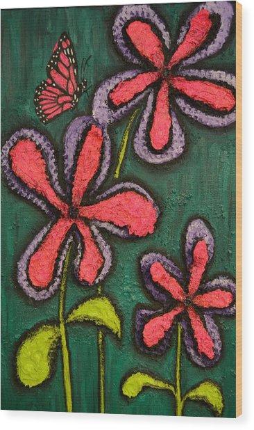 Flowers 4 Sydney Wood Print