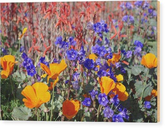 Flowers Gone Wild Wood Print