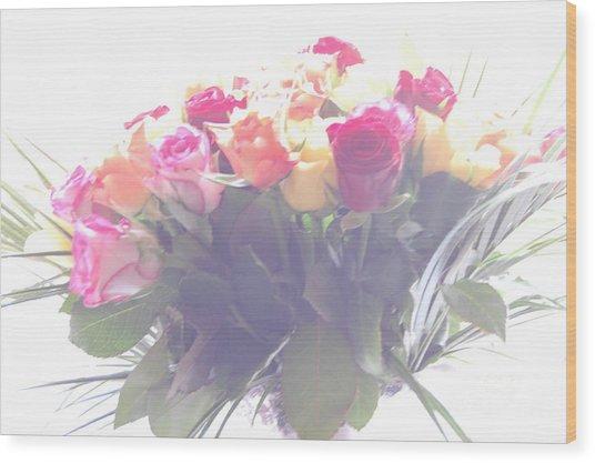 Flowers In A Dream Wood Print
