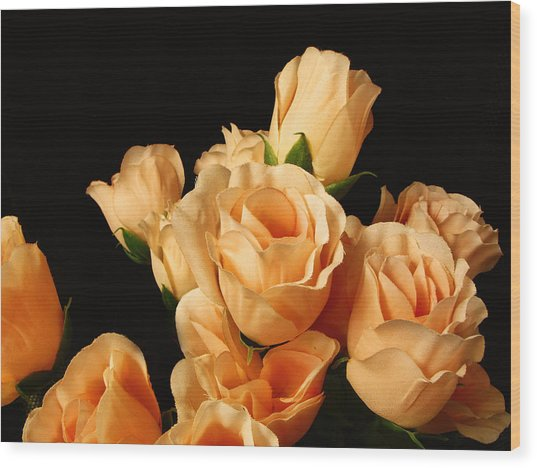 Flowers In Mourning Wood Print