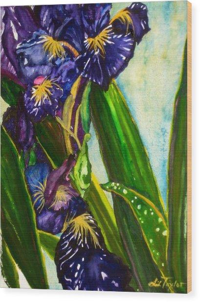 Flowers In Your Hair II Wood Print